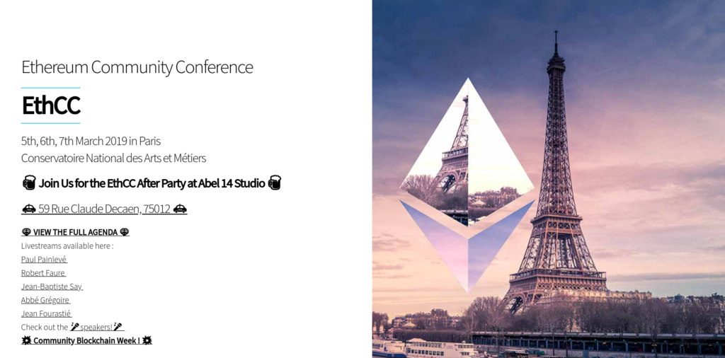 Ethereum ETHCC Paris reverse webassembly patrick ventuzelo analysis smart contract Parity Kovan mainnet testnet conference talk