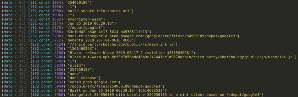 webassembly wasm security google keep patrick ventuzelo reversing analysis emscripten